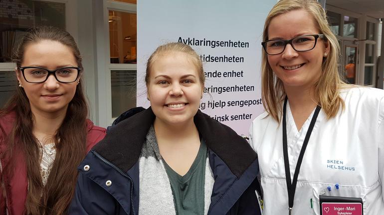 Aleksandra Piotrowska, Helen Jensen og Inger-Mari Nomme