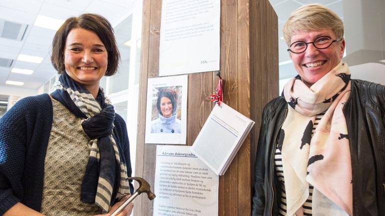 Trude Klevan og Kirsti Skovdahl. Foto