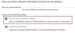 Set up a connection or network