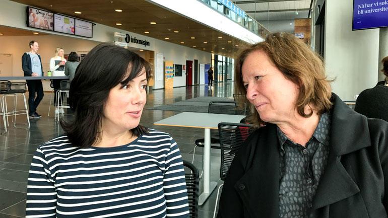 Iryna og Nina Martinsen. Foto