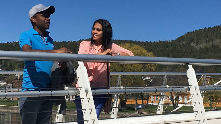 Ypsilon bridge, Drammen. Photo