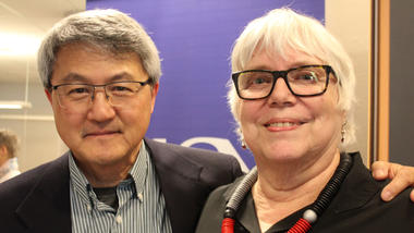 Anne Solberg og professor David Wang