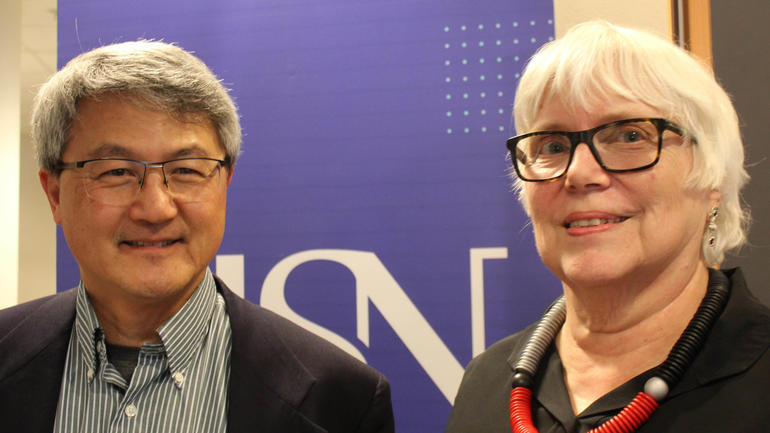 Anne Solberg og David Wang