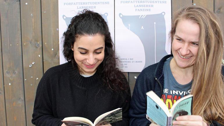 Aida Solaimanpoor og Camilla Bogetun Johansen - fra slippfesten for fanzinen