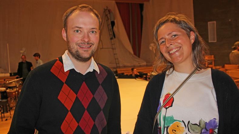Instituttledere Stian Roland og stipendiat og Fashion Fesjå grunlegger Veronika Glitsch.