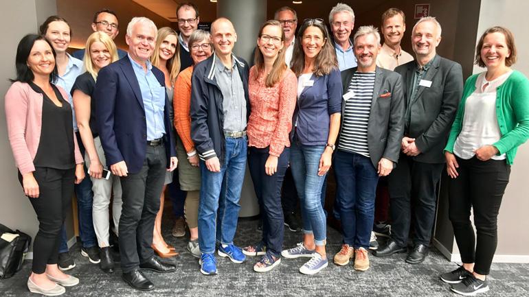 MØTE: Fredag 16. juni hadde Senter for IKT i utdanningen møte med HSN og Høgskulen på Vestlandet.