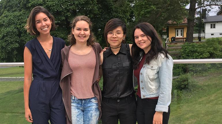 Myopia summer school students. Photo.