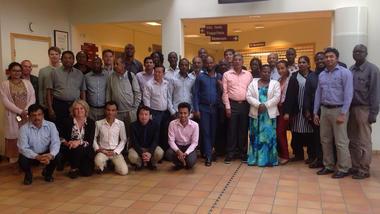 Deltakerne i WASo - prosjektet samlet i Bø 2.-3. juli.