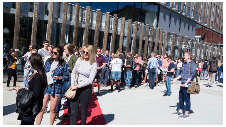 Åpning av studieåret på campus Kongsberg i 2016.