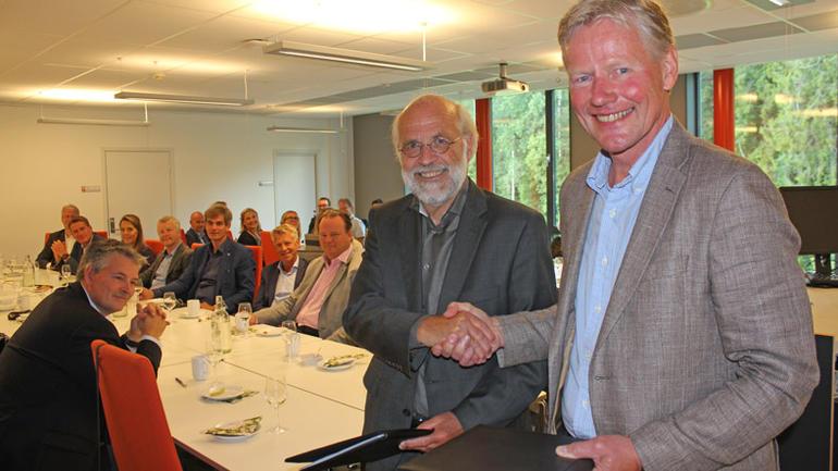 Avtaleinngåelse mellom HSN og Sparebankstiftelsen Nøtterøy-Tønsberg.