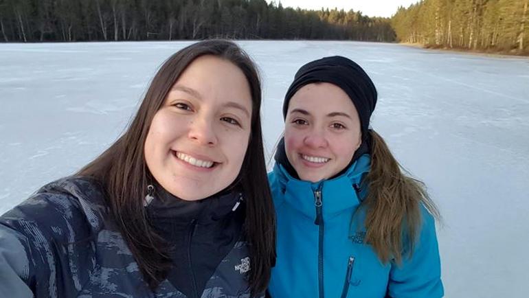 Ana Isabel Billingslea Gonzalez and Maria Fernanda Sandoval Quan. Photo