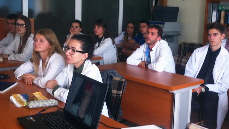 Første: Det første kullet som startet på optometriutdanningen i Moldova består av 17 studenter.