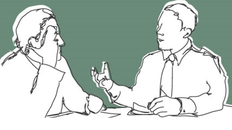 Conversation. Illustration.