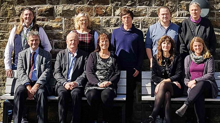 Erasmus project team visiting England.