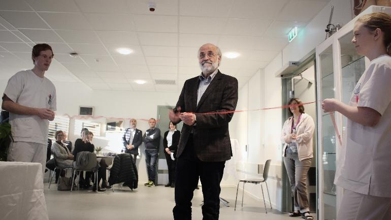 Åpnet: Rektor Petter Aasen erklærte SIM-senteret ved campus Porsgrunn for åpnet mandag 6. november. Foto: Stian K. Sande