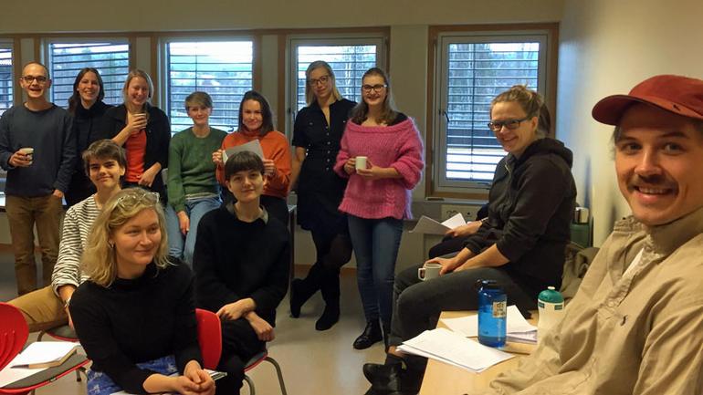 Bilde av forfatterstudentene