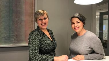 Elisabeth og Anne Kathrin tar master på HSN. Foto