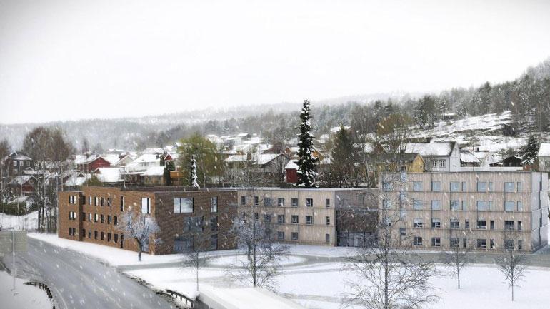 ENGASJEMENT: Utviklingen av Hasbergtjerndalen, hvor det blant annet er planer om studenthybler, skapte het debatt under kommunestyrets behandling. ILLUSTRASJON: Enerhaugen arkitektkontor AS/DRMA AS