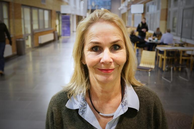 Aud Johannessen på campus Vestfold.