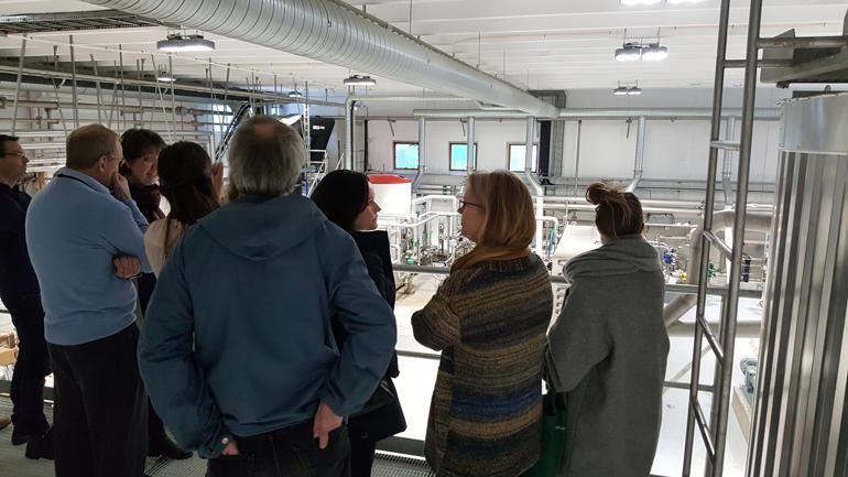 Omvising: I desember var HSN på omvising på Den magiske fabrikken. HSN har som visjon å vera internasjonalt konkurransedyktig og tydeleg til stades i regionen. Foto: Mette Kammen