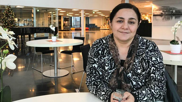 Malahat Nasibova fra Aserbajdsjan vant Raftoprisen i 2009 for sitt modige arbeid i hjemlandet. Nå har hun akademisk praksis i sin nye hjemby Drammen