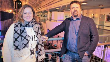 Industrimaster i Vestfold. Sanda Knutson og Frode Stensaa  (Foto: Silje Mossestad)