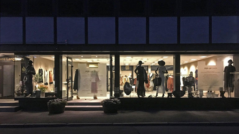 Pop Up butikk Tønsberg - foto