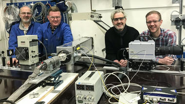 3D-printing-forskning ved campus Porsgrunn. Gruppebilde.