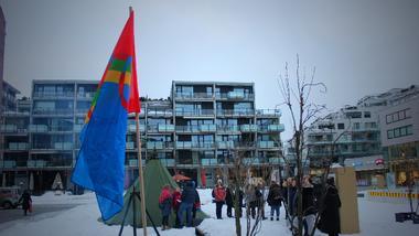 Samenes nasjonaldag markeres på campus Drammen. foto.