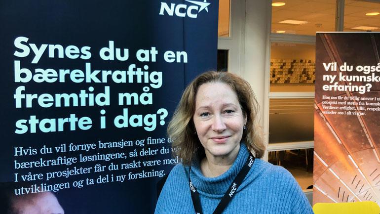 Christina Johansen, NCC i Norge. Foto: Jan-Henrik Kulberg