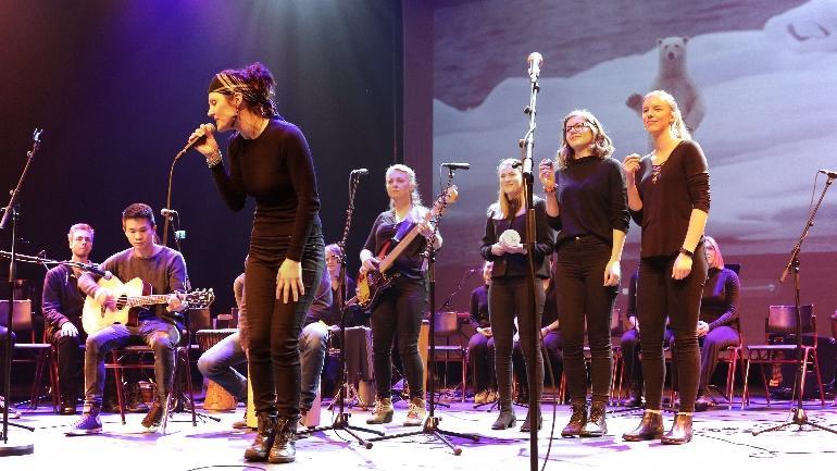 Bakkenteigen konsertsal. foto.