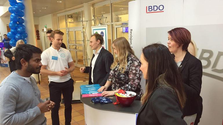 Bilde fra BDO-stand