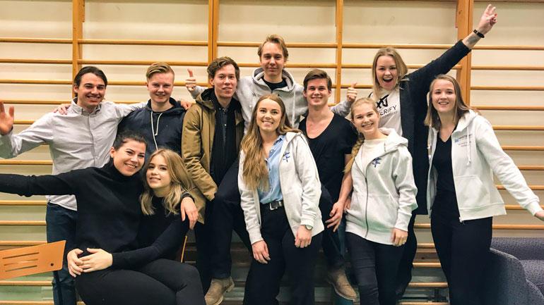 Fotnøyde og aktive studenter på campus Ringerike. Foto: Jan-Henrik Kulberg