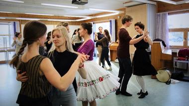 Vinterfestival om folkemusikk på campus Rauland. foto.