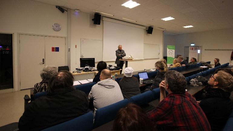 Ketil Lund Ytringsfrihetsprisen campus Drammen psykisk helse. foto.