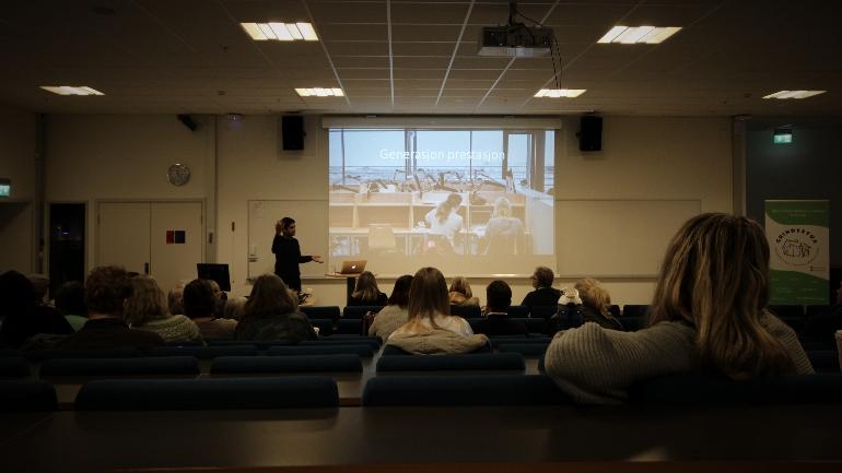 Mansoor Hussain AUF Oslo skuddårsseminaret 2018 campus Drammen psykisk helse. Foto: Stian Kristoffer Sande.