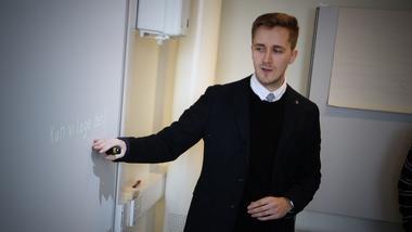 FoUI-ekspert HSN Ringerike Management Information Systems Theodor Henriksen.