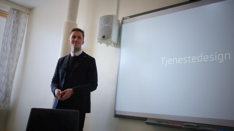 FoUI-ekspert HSN Ringerike Management Information Systems Theodor Henriksen. foto.