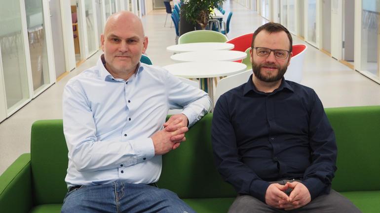 Prof. Kjetil Børkje (photo right ) and Prof. Lars Morten Johansen, who is leading the research group  Quantum Technology .