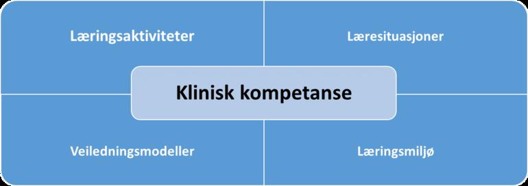Modell for klinisk kompetanse.