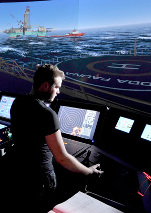 Bilde fra skipsbrosimulator
