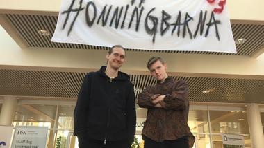 Trym Grydeland og Magnus Annweiler var to av dem som var så heldige å få bli med i Slottsfjells Supercrew.
