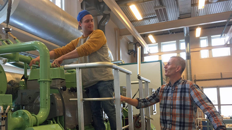 Bilde av Sergei og foreleser Fred Høifødt