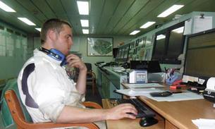 Bilde av Sergei i kontrollrommet