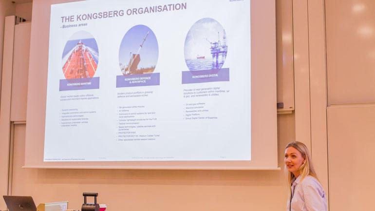 Cathrine Eriksen, HR Advisor i Kongsberg Maritime har tatt i mot tretten HSN-studenter de siste fem årene. Foto