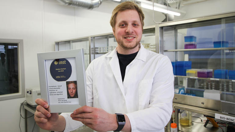 Haakon Karlsen has achieved his Ph.D. in Applied Micro-and Nano-systems at USN. Photo:  An-Magritt Larsen