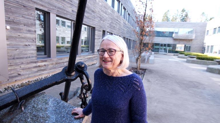 Berit Bratholm, som er hovudtillitsvalt i Forskerforbundet, har eit godt samarbeid med dei andre fagforeiningane ved HSN.