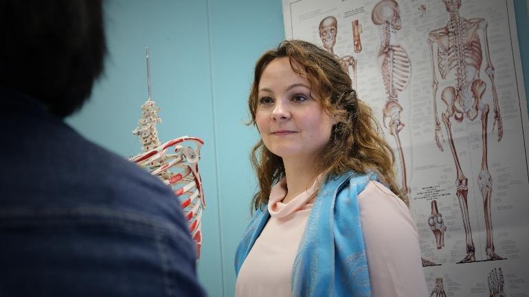 Rebekka Borsch på Vitensenteret USN. foto.