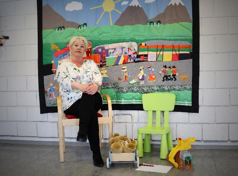 Hilde Thorsen ved Barnevernstjenesten tok videreutdanning ved USN. foto.