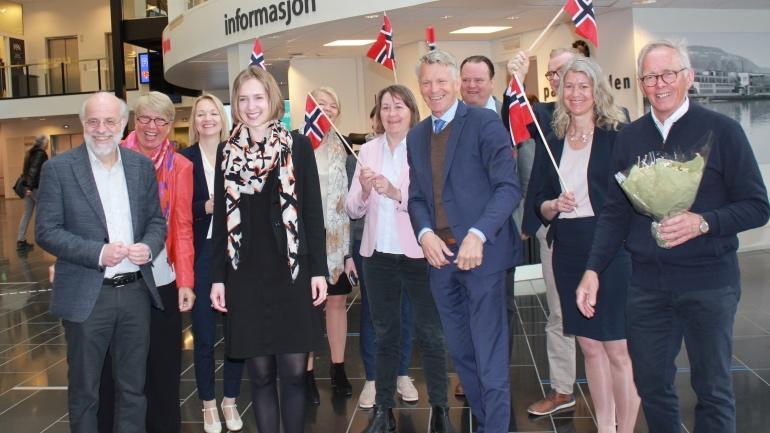 Feirer Universitetet i Sørøst-Norge. Foto.